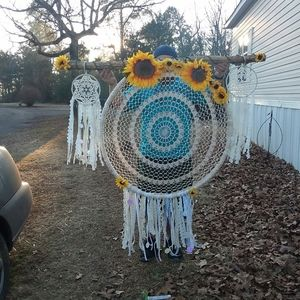 Dream catcher hanging from wood very heavy